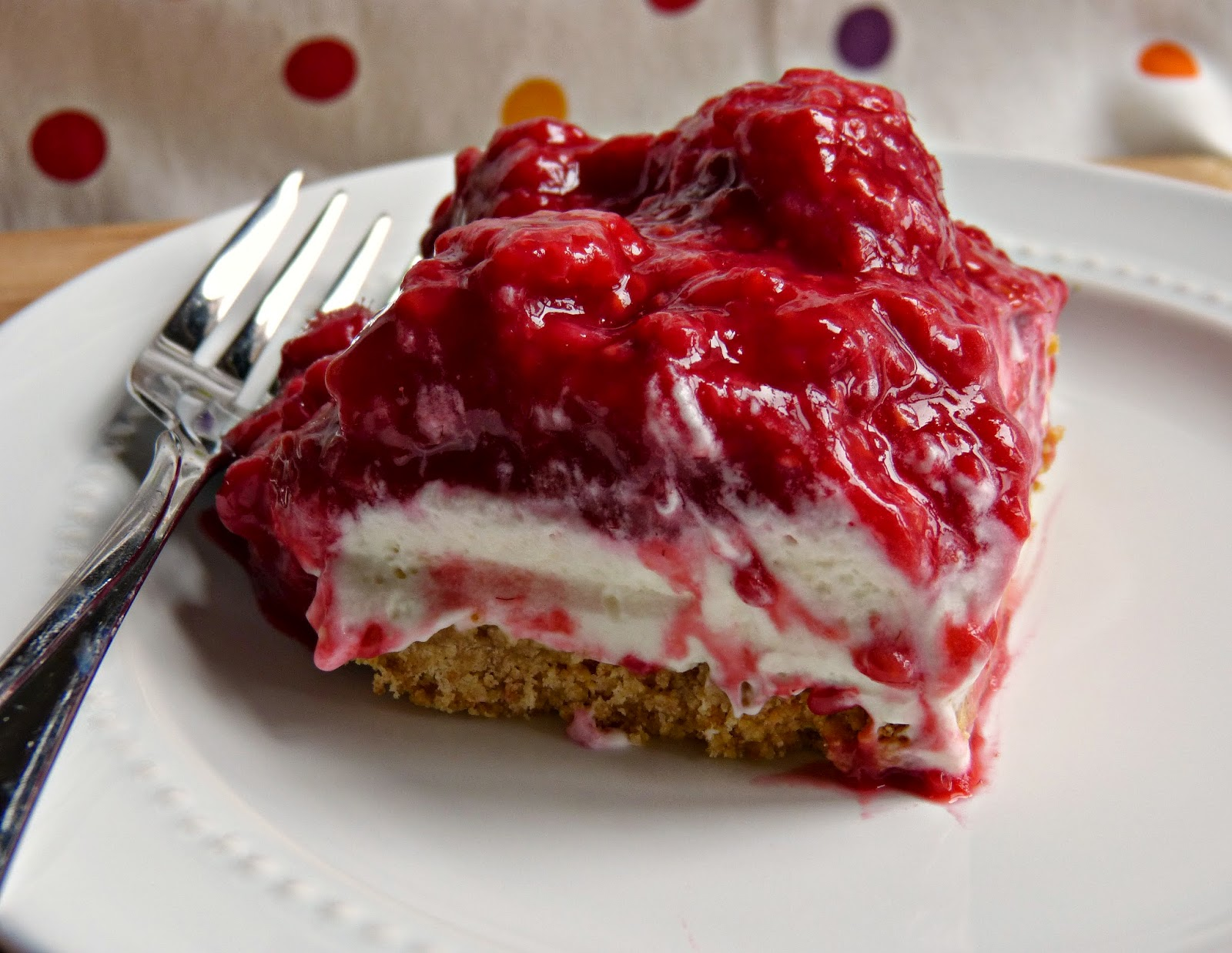 A Squared: Old Fashioned Raspberry Icebox Dessert