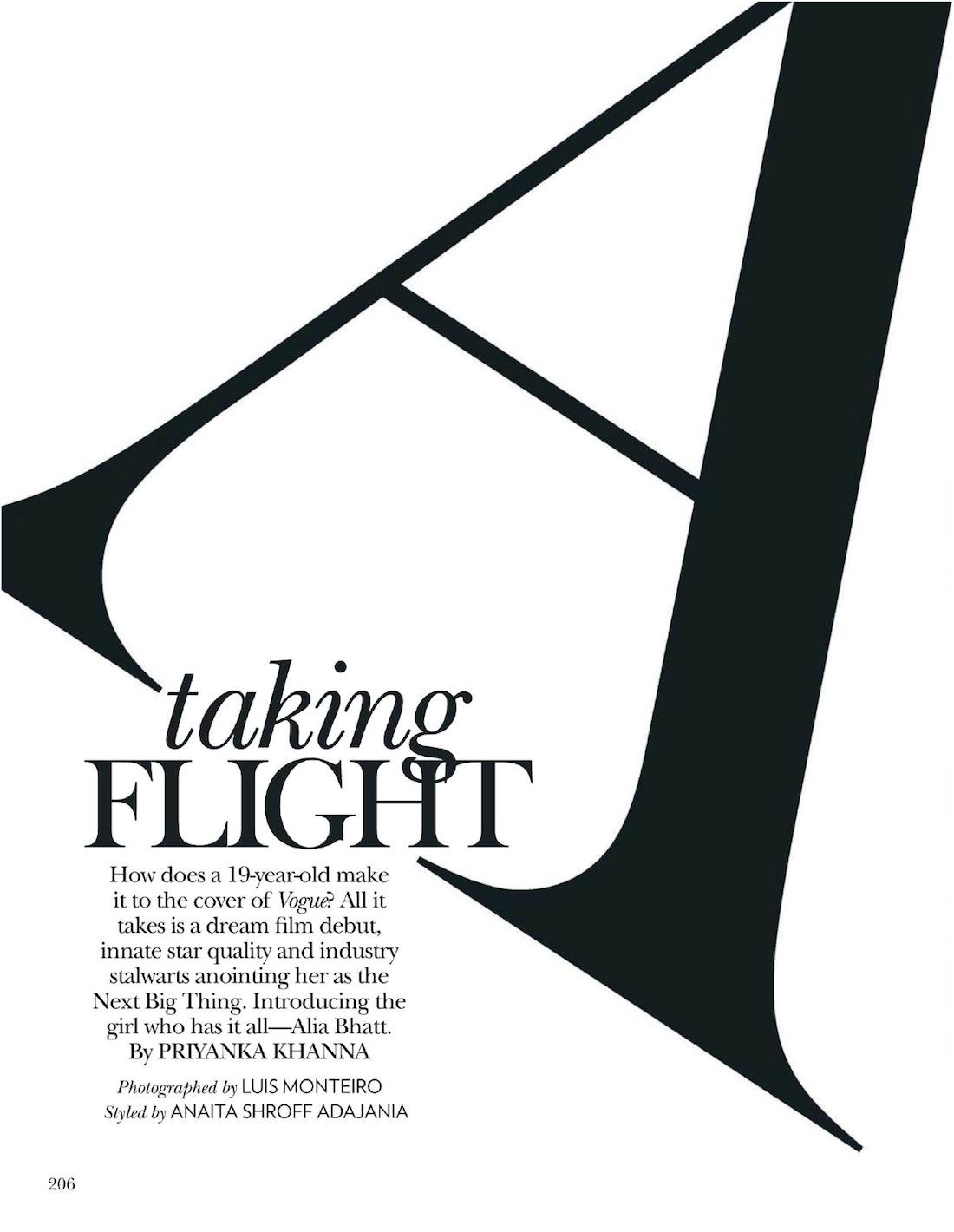 Taking Flight Alia Bhatt By Luis Monteiro For Vogue India