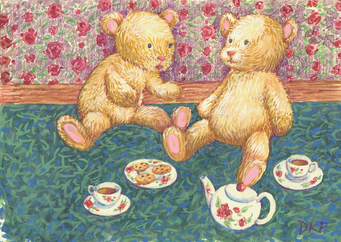 teddy bear tea party art public