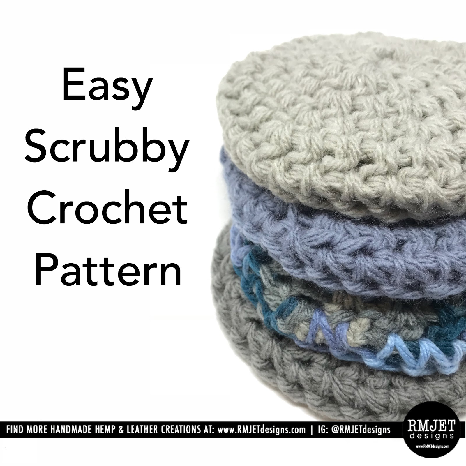 Easy Scrubby FREE Crochet Pattern by RMJETdesigns