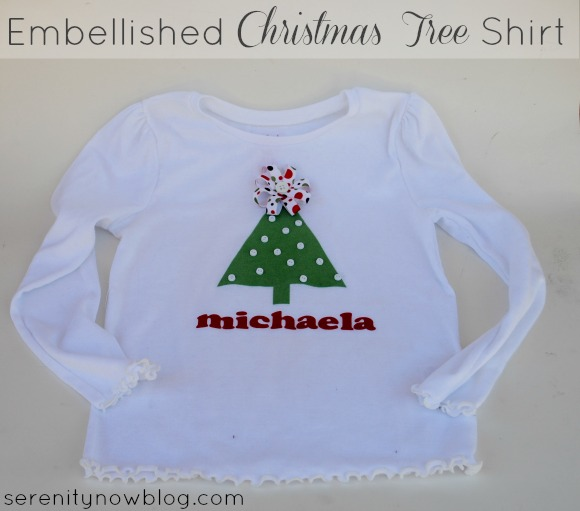 Embellished Girls' Christmas Tree Shirt, from Serenity Now