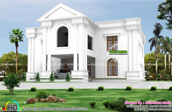 Long pillar Colonial style home