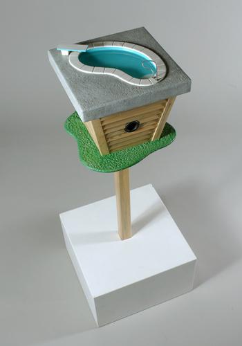 Casa para pájaros con alberca