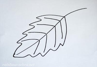 Контур листика
