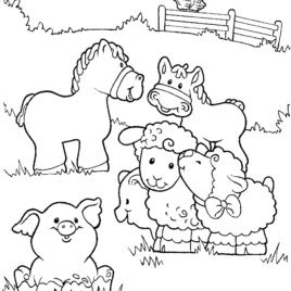 Best Ideas Farm Animals For Coloring