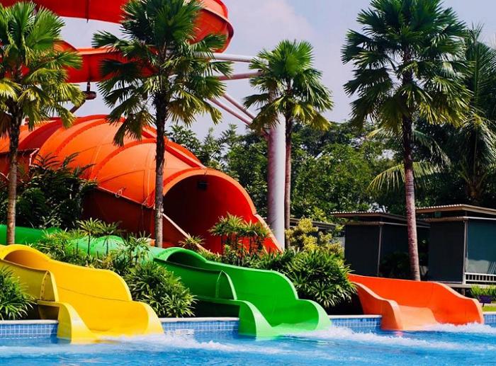 Tempat wisata di Bekasi Go! Wet Waterpark Grand Wisata Tambun