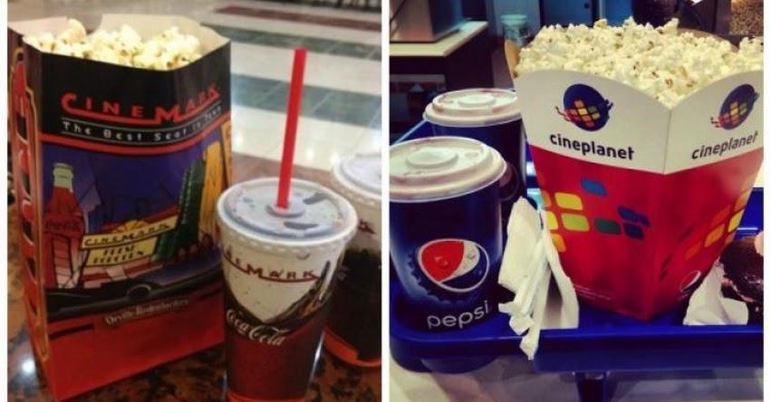 INDECOPI ordena a cines retirar restricción que impide a usuarios llevar alimentos y bebidas