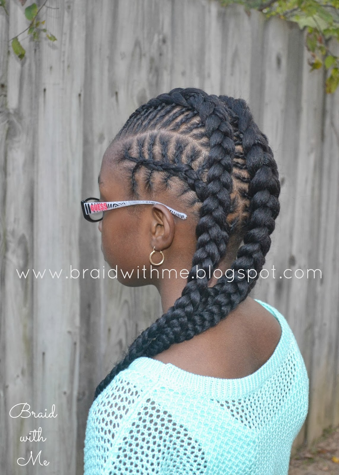 Braid with Me: Natural Styles for Kids: Fish Bone Cornrows