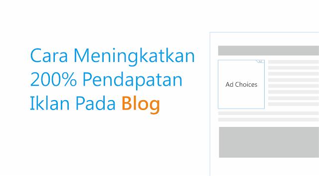 cara meningkatkan iklan pada blog