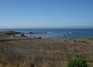 View of the Pacific Ocean near Cayucas, California
