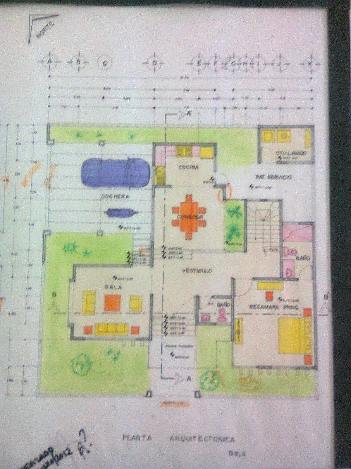 Arodi a uicab marin planos arquitect nicos de casa for Planos de casa habitacion