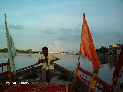 Our Boatman during the Yamuna Boat ride in Mathura