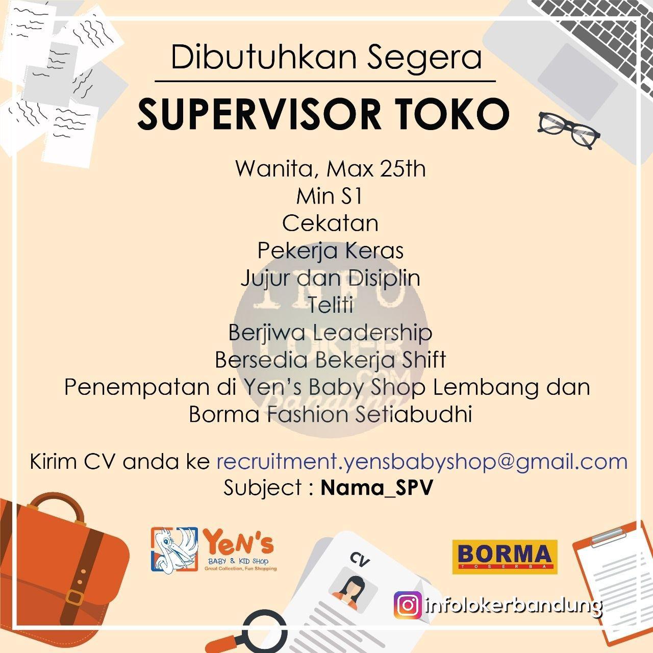 Lowongan Kerja Yens Baby & Kids Shop Bandung April 2018