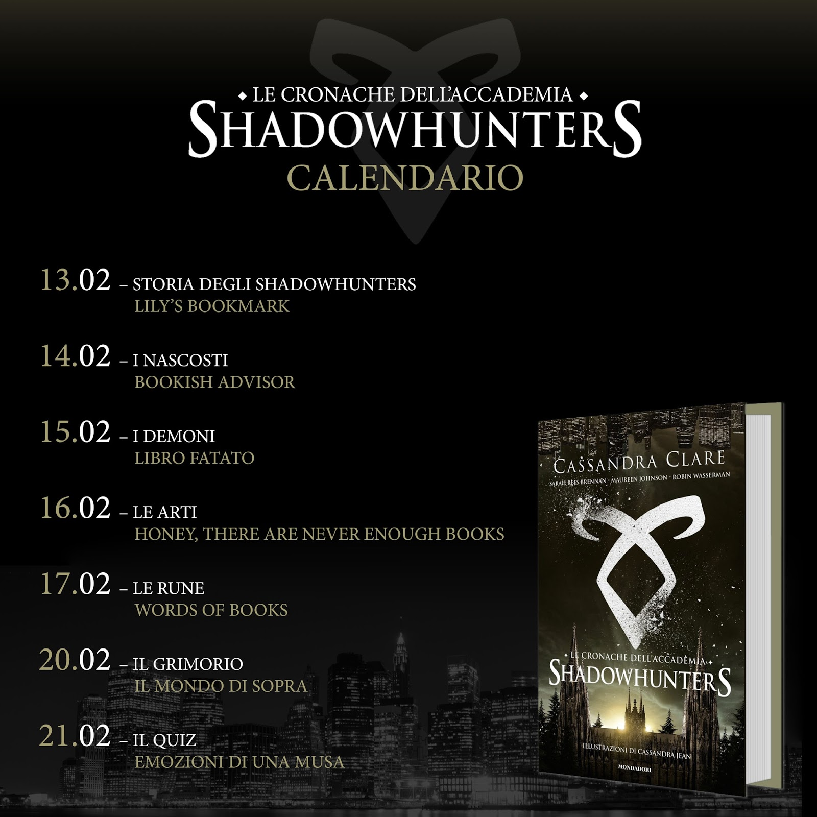 Shadowhunters Libros Honey There Are Never Enough Books Le Arti Blogtour