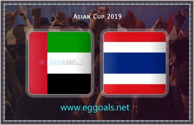 الامارات تصعد أول مجموعتها الى دور الـ 16 لكأس الأمم الآسيوية بالععادل الايجابى مع تايلاند
