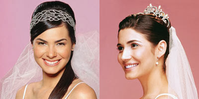 Modelos diferentes de Tiaras para noivas 2014