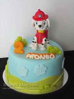 bolo festas parabens aniversário patrulha pata