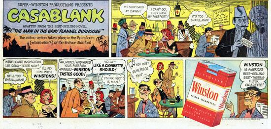 Winston advertisement 1957 - comic strip - B