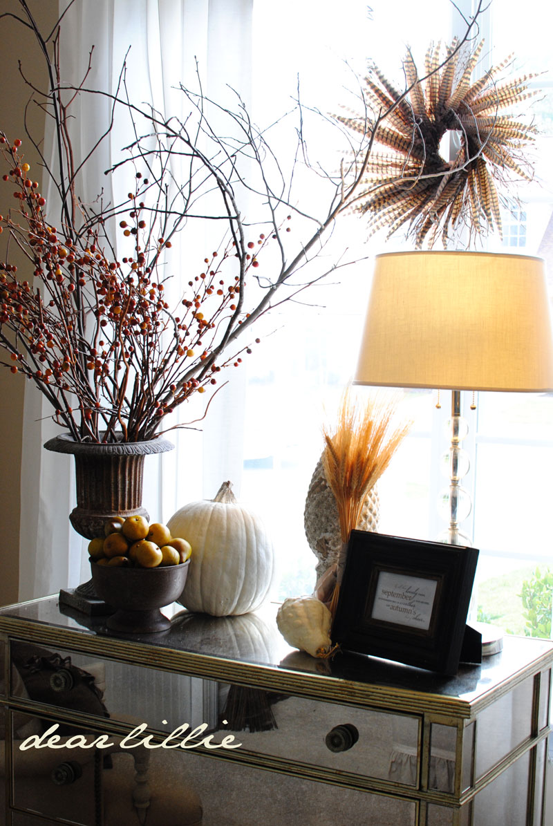 Autumn Living Room Decorating Ideas: Dear Lillie: Our Autumn Living Room, A Free Download AND A