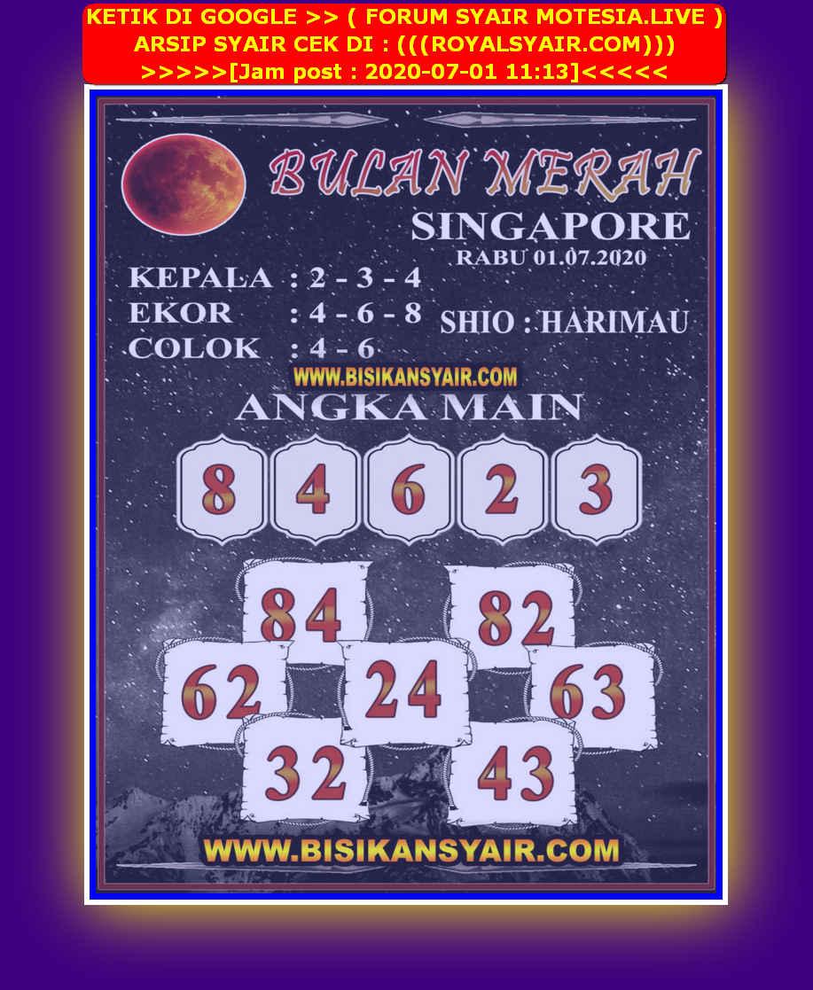 Kode syair Singapore Rabu 1 Juli 2020 184