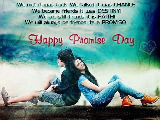 Happy Promise Day Shayari Images