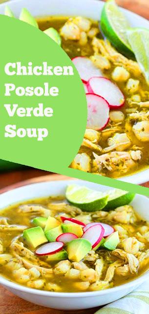 Chicken Posole Verde Soup | recipes chicken | recipes soup | recipes dinner | recipes main dish | recipes winter | recipes whole30 #chicken #posole #verde #soup #dinner