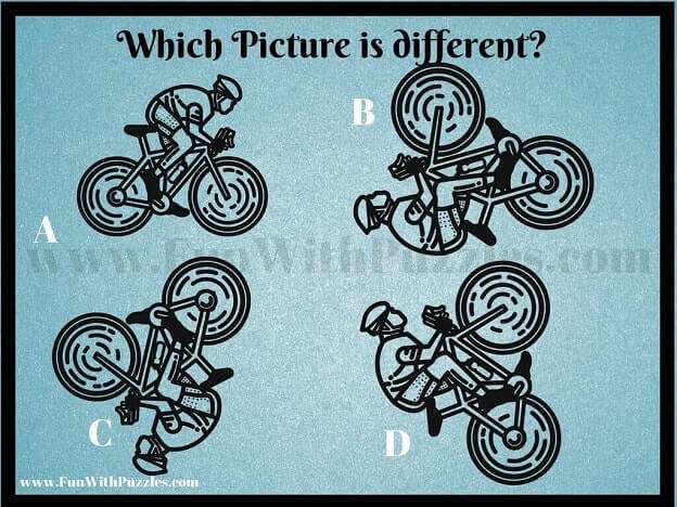 Tough Picture Puzzle to find Odd One Out