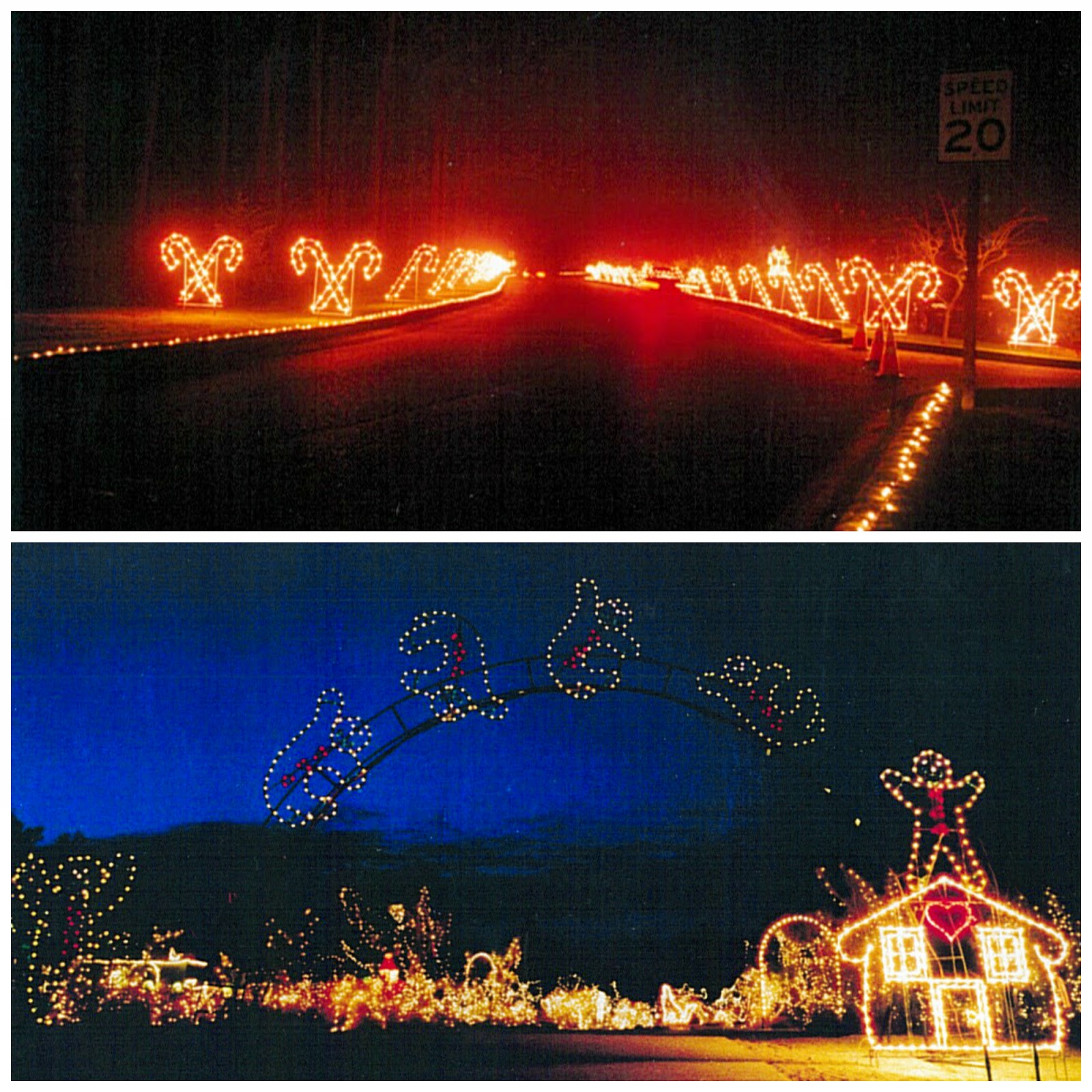 The ever-popular Candy Cane Lane and a gingerbread house were a few of Bates' first contributions to Fantasy Lights.