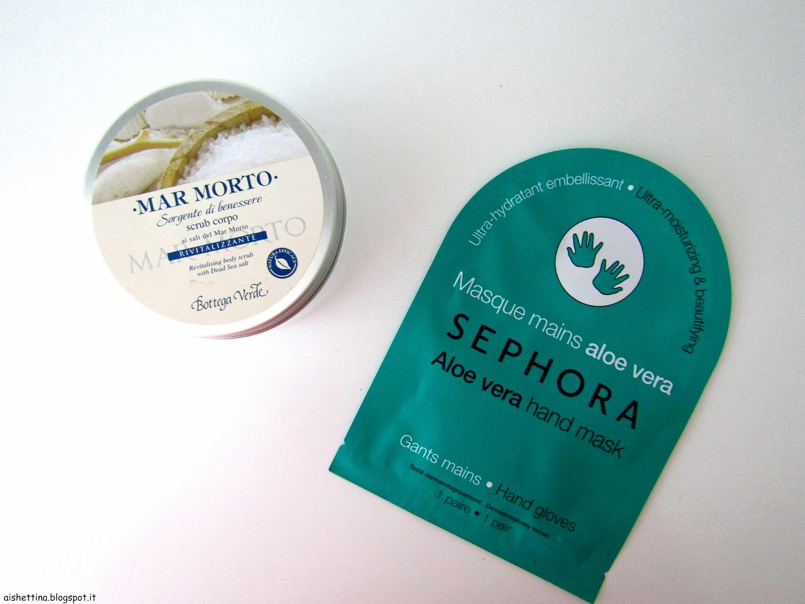 sephora hand mask and bottega verde scrub