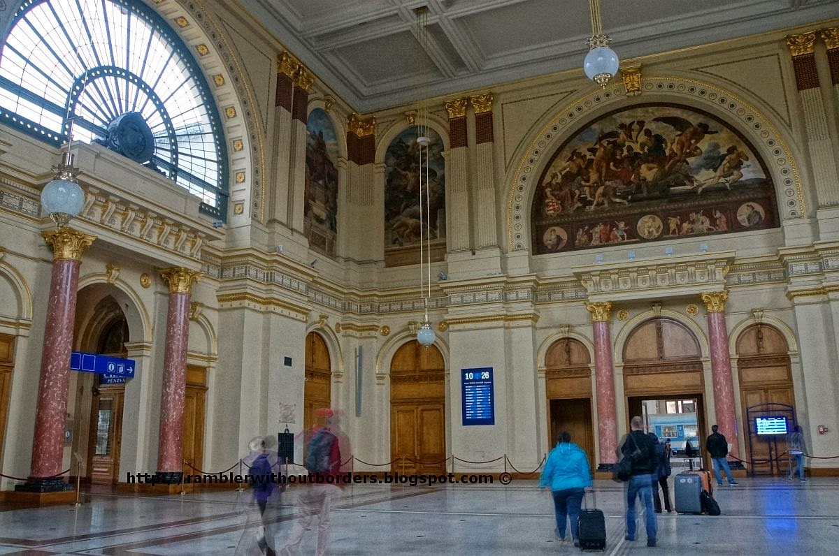 Lobby, Keleti Terminal, Budapest, Hungary