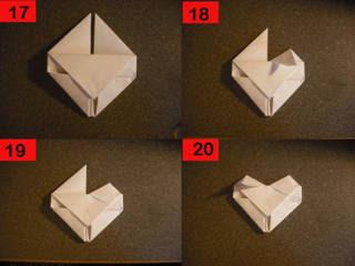 Cara Membuat Love dari Origami