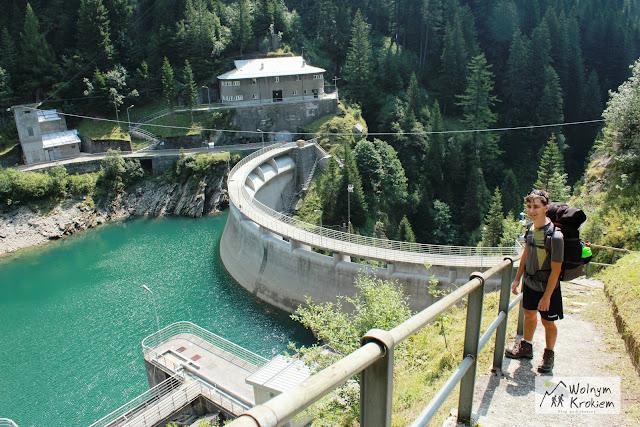 Szlak Via Spluga Alpy włochy Zapora Wodna