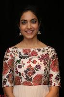 Ritu Varma smiling face Cream Anarkali dress at launch of OPPO New Selfie Camera F3 ~  Exclusive 020.JPG
