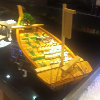 sushi boat at Yakimix in Cebu City, Philippines
