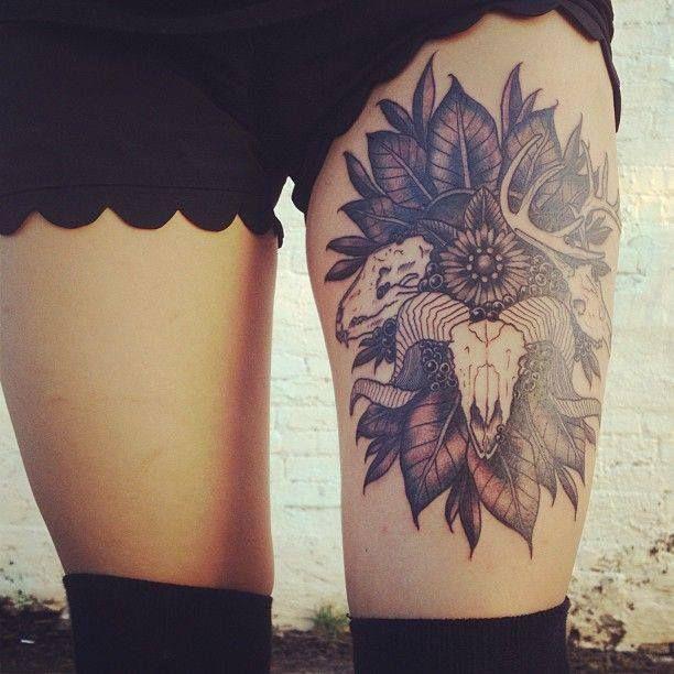 tatuaje en la pierna