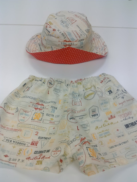 Conjunto playa bebe coleccion Wishes for Moda Fabrics