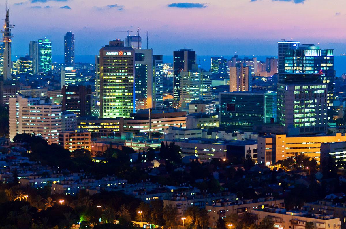 Business City: Tel Aviv At Night - TLVSpot.com