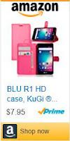 Estuche tipo PU de alta calidad y estilo ultra-delgado para BLU R1 HD.