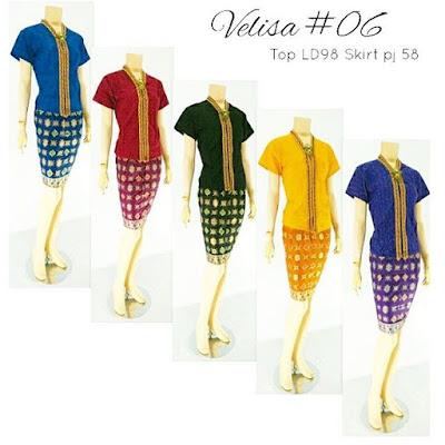 Model Baju Rok Blouse Batik Modern Velisa06