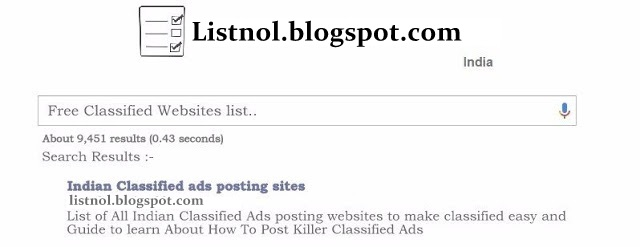 Top Indian classified websites list : post free ads without any