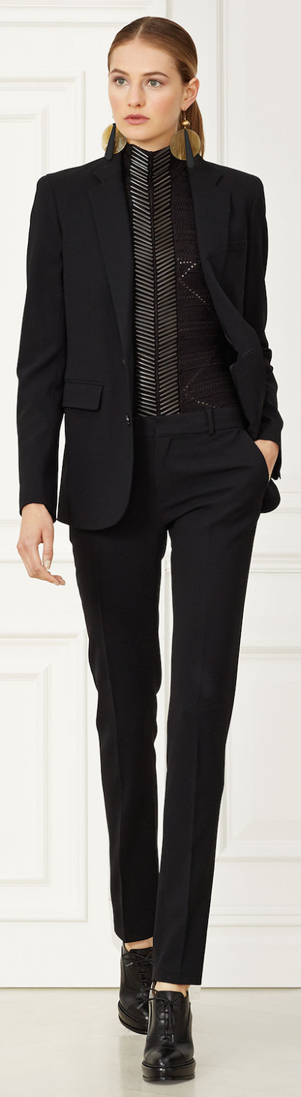 RALPH LAUREN  YVETTE STRETCH-WOOL JACKET