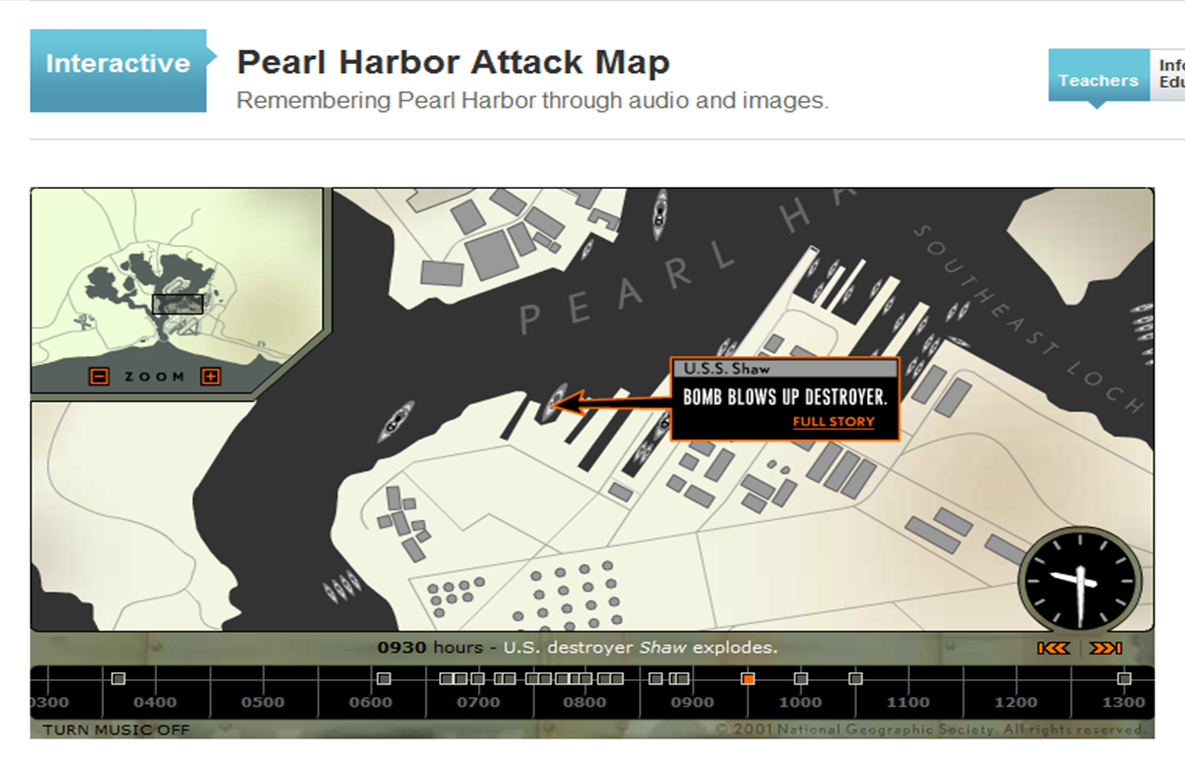 Speaking Of History New Pearl Harbor Interactive From