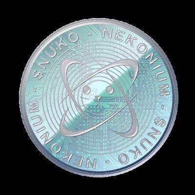 仮想通貨ネコニウムのフリー素材(アルミver)