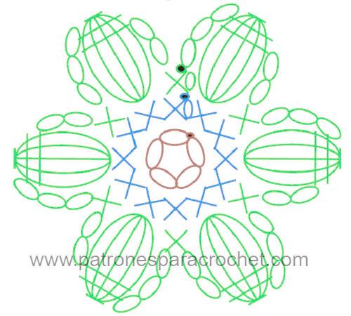 Cómo tejer bolso con flor punto puff Mollie Crochet Flower ...