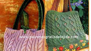 Bolsos tejidos con Dos Agujas o Palitos / Paso a paso y moldes
