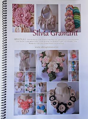 Colares de Crochê com Flores - Colar Afrodite, apostila de crochê, como fazer o colar afrodite