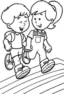 Desenho De Menino E Menina Para Colorir