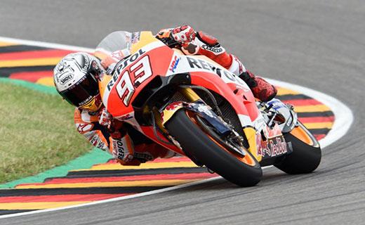 FP3 Sachsenring: Marc Marquez Berkuasa, Rossi-Vinales Lolos Q2