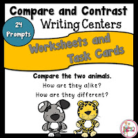 Compare and Contrast Worksheets and Task Cards