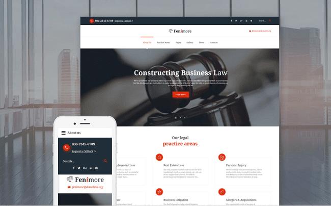 the vast majority of industries faced fierce competition that forced providers of differe Top 5 Joomla Templates for Law Company Website